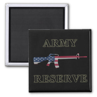 Army Reserve M16 Magnet Black