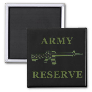 Army Reserve M16 Magnet Black Subdued