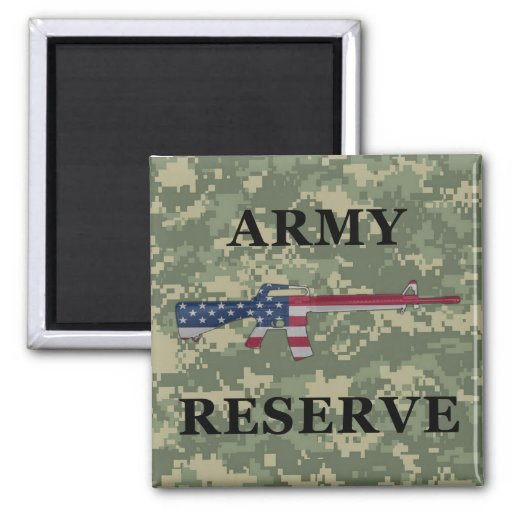 Army Reserve M16 Magnet Green