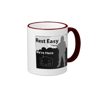 Army - Rest Easy We're Here Ringer Coffee Mug