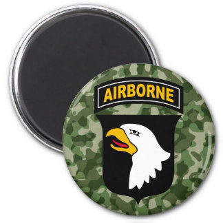 Army Screaming Eagle 6 Cm Round Magnet