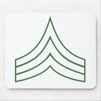 Army Sergeant Rank Insignia Mouse Pads