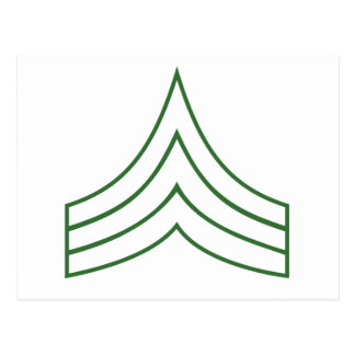 Army Sergeant Rank Insignia Post Cards