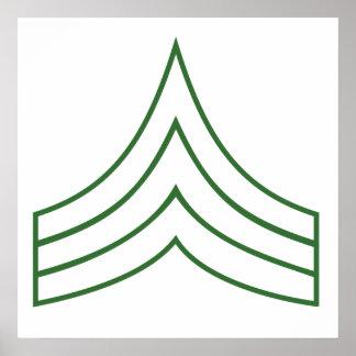 Army Sergeant Rank Insignia Print