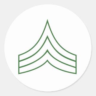 Army Sergeant Rank Insignia Stickers
