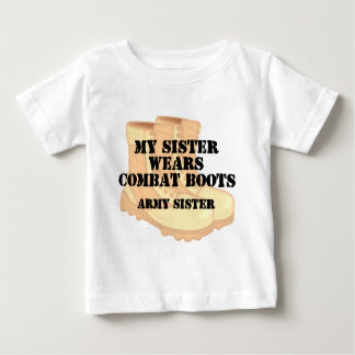 Army Sister Desert Combat Boots T Shirt