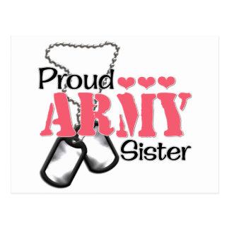 Army Sister Hearts Post Card