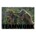 Army Sniper Team Poster