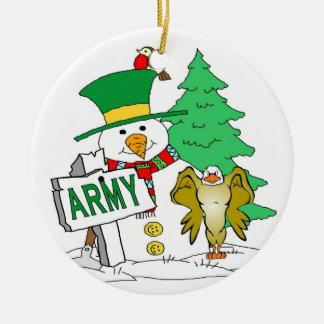 Army Snowman Christmas Christmas Ornament