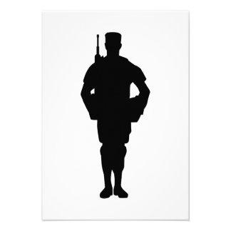 Army soldier invitation