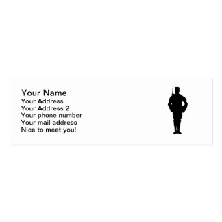 Army soldier pack of skinny business cards