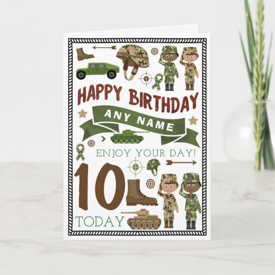 Army Soldier Personalised Birthday Card Zazzle