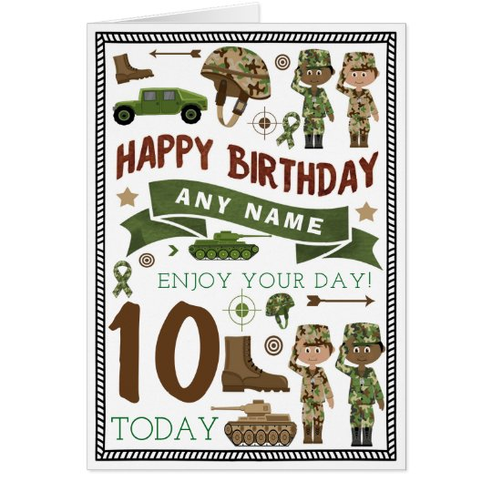 Army soldier personalised birthday card zazzle army soldier personalised birthday card bookmarktalkfo Choice Image