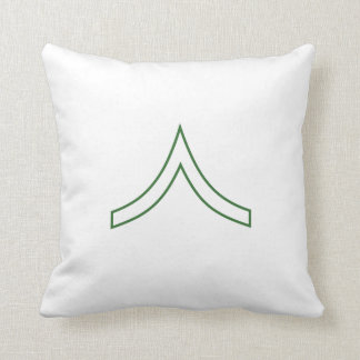 Army Soldier Rank Insignia Throw Pillows