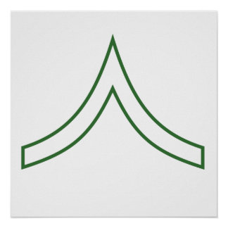 Army Soldier Rank Insignia Print