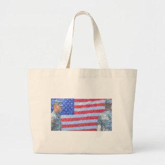 Army Soldier Jumbo Tote Bag