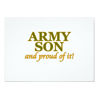 Army Son and Proud of It 13 Cm X 18 Cm Invitation Card