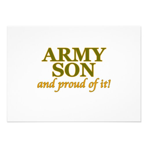 Army Son and Proud of It Personalized Invites