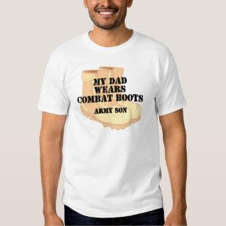 Army Son Dad Desert Combat Boots Tshirt