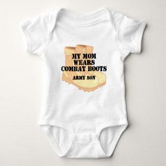 Army Son Mom Desert Combat Boots Tshirt