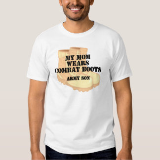 Army Son Mom Desert Combat Boots Tshirt