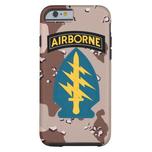 """Army Special Forces """"Green Berets"""" Desert Camo Tough iPhone 6 Case"""