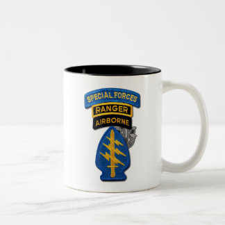 Army Special Forces Green Berets Rangers Vets Two-Tone Mug