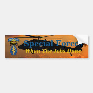 Army Special Forces Green Berets SF SFG SOF Vets Bumper Sticker