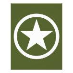 Army Star 21.5 Cm X 28 Cm Flyer
