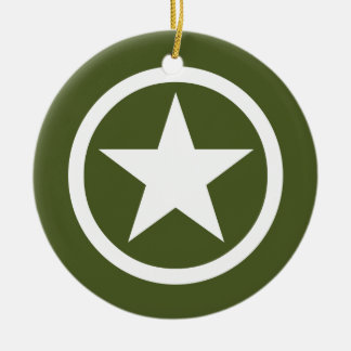Army Star Christmas Ornament