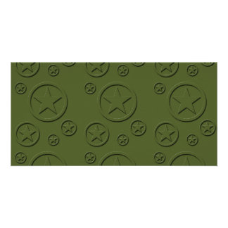 Army Star pattern Photo Card Template