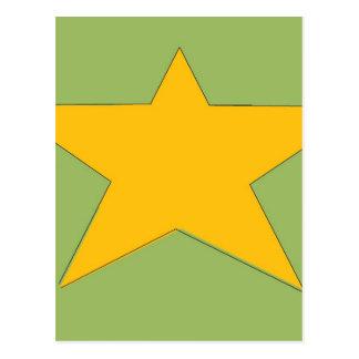 Army Star Postcard