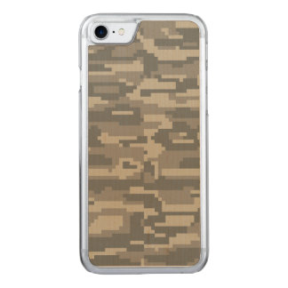 Army Style Digital Camouflage Carved iPhone 8/7 Case