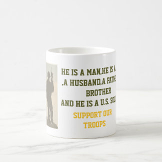 ARMY SUPPORT OUR TROOPS MUG