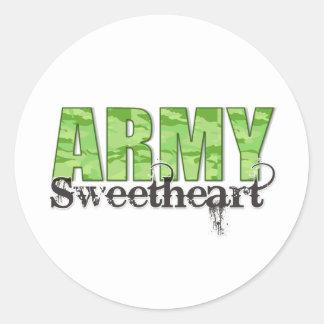 Army Sweetheart Round Sticker