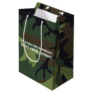 Army themed Birthday Party guest Medium Gift Bag