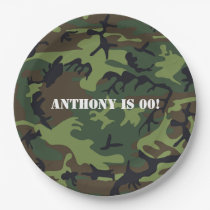 Army themed Birthday Party Paper Plate