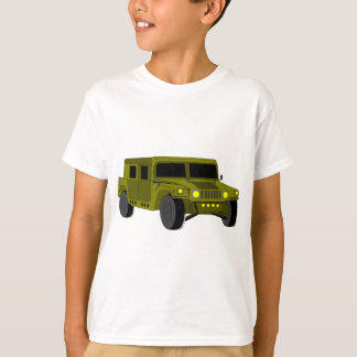 Army Truck Cartoon Drawing T-Shirt