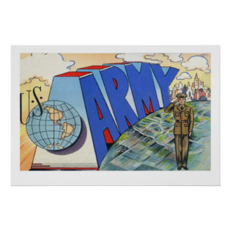 Army Vintage Poster 39