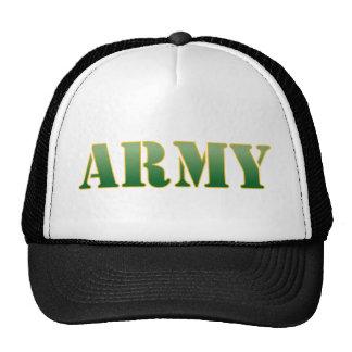 Army w/Green Text Trucker Hat