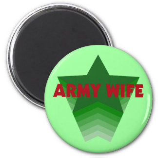 Army Wife 6 Cm Round Magnet