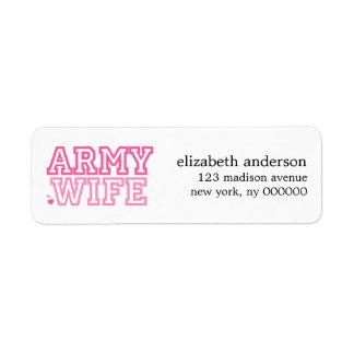 Army Wife Address Labels