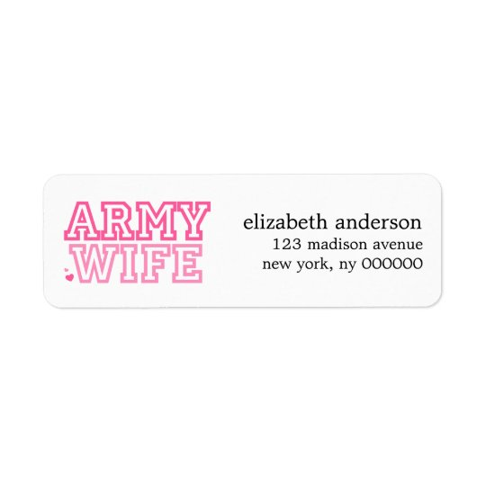 Army Wife Address Labels