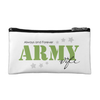 Army Wife - Always and Forever Cosmetics Bags