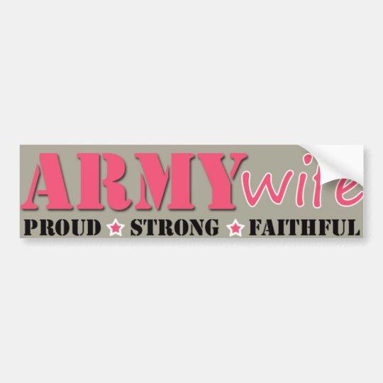 Army Wife Bumper Sticker