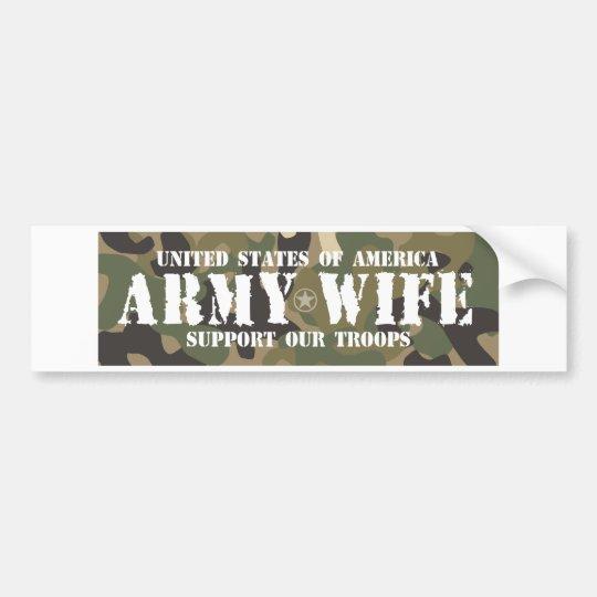 Army-Wife Bumper Sticker