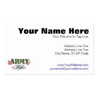 Army Wife Pack Of Standard Business Cards