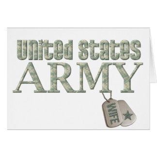 Army Wife - Camo Greeting Card