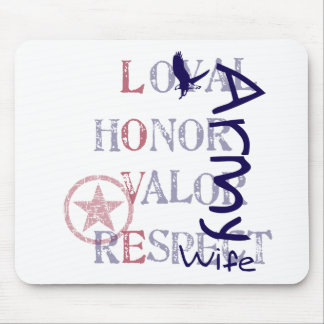 Army Wife - Eagle Mouse Pad