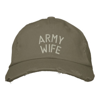 Army Wife Embroidered Baseball Caps